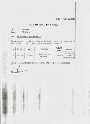 Internal memo format letter documentshub sample internal memo letter for bank guarantee altavistaventures Image collections